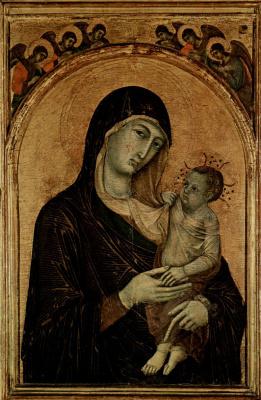 Дуччо ди Буонинсенья. Мадонна с ангелом