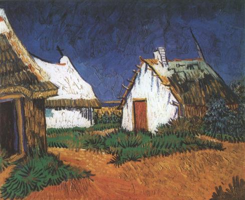 Винсент Ван Гог. Три белых дома в Сент Мари