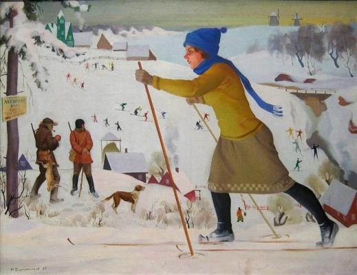 Николай Иванович Дормидонтов. Лыжница