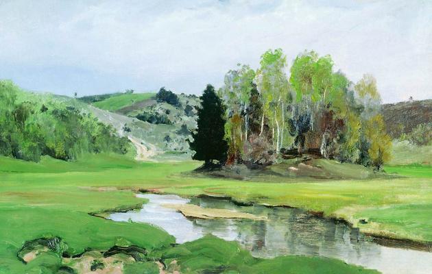Vasily Dmitrievich Polenov. The river Svinka near Aleksin