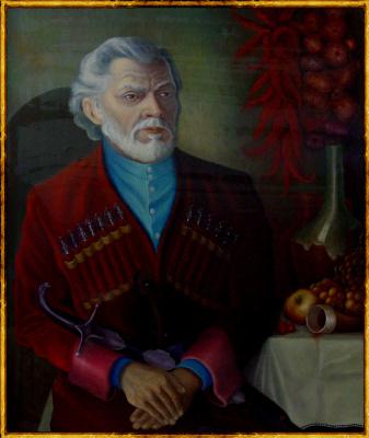 Vladimir Pavlovich Parkin. Portrait of an old Georgian. Grandpa Amiran from Tbilisi.