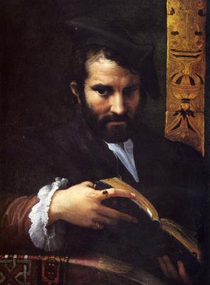 Франческо Пармиджанино. Портрет мужчины с книгой
