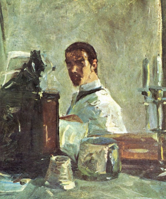 Henri de Toulouse-Lautrec. Self-Portrait In Front Of A Mirror