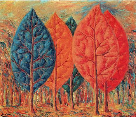 René Magritte. Flame