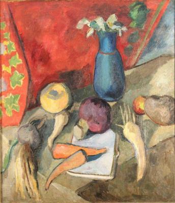Robert Rafailovich Falk. Still life. Vegetables and jug