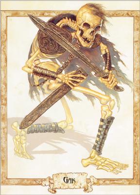 Пол Кидби. Скелет с мечом
