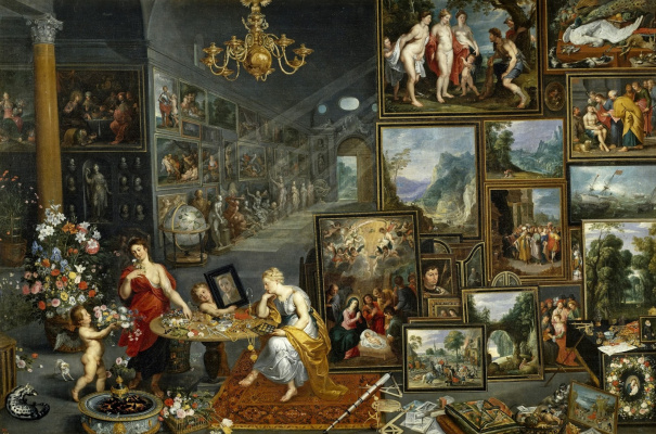 Frans Franken the Younger. Allegory of sight and smell. (joint with Jan Breugel St and Gerard Zegers) Around 1620