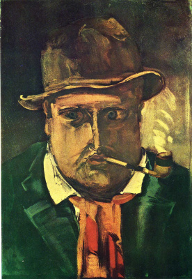 Морис де Вламинк. Мужчина с трубкой