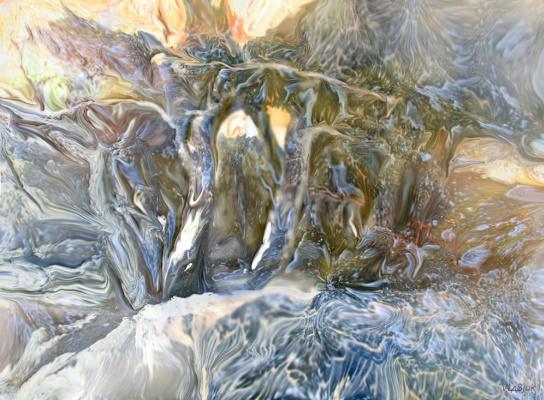 Alexander Ivanovich Vlasyuk. 248-2014-Watercolor-Landscape in movement