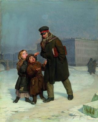 Firs Sergeevich Zhuravlev. Children-beggars