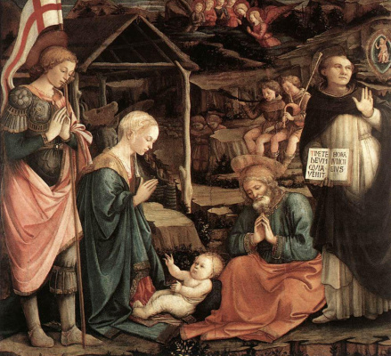 Fra Filippo Lippi. The adoration with the saints
