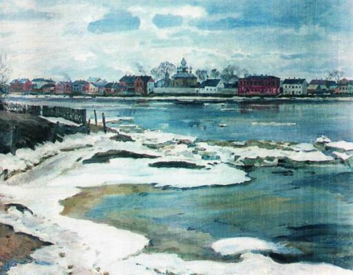 Sergey Arsenievich Vinogradov. Ice drift on the Dvina