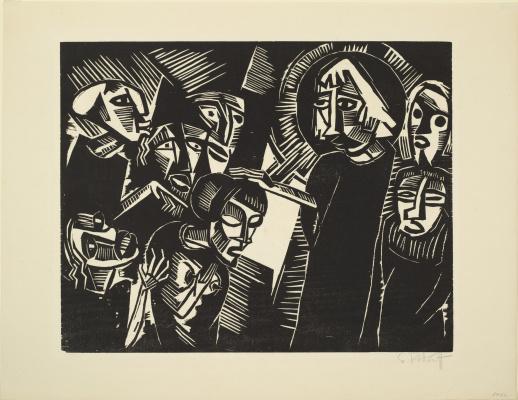Karl Schmidt-Rottluff. Christ and the sinner