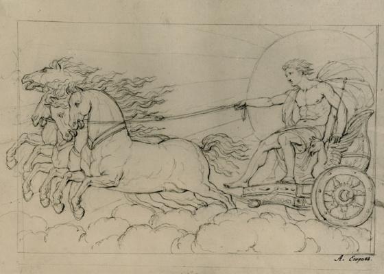 """Alexey Egorovich Egorov. A Sketch Of """"Chariot"""""""