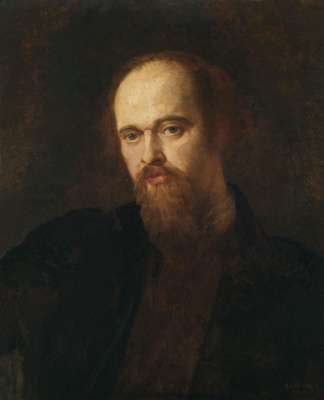 George Frederick Watts. Portrait of Dante Gabriel Rossetti