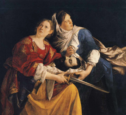 Orazio Gentileski. Judith and her maidservant with the head of Holofernes