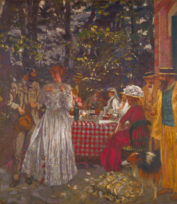 Jean Edouard Vuillard. Lunch on the garden terrace