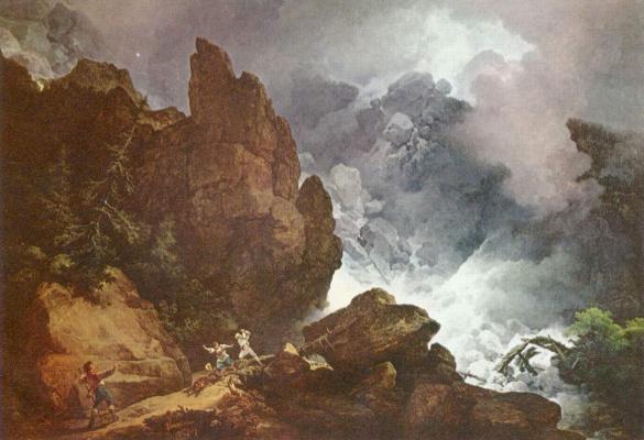 Филипп Джеймс. Лавина в Альпах
