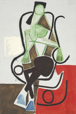 Pablo Picasso. The woman in the rocking chair