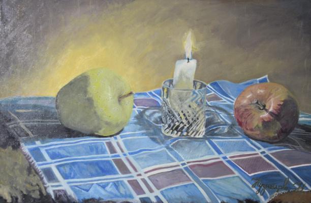 Kuznetsov.N. Apple and candle