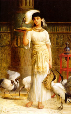 Edwin Longsden Long. Sacred IBIS in the temple of ISIS