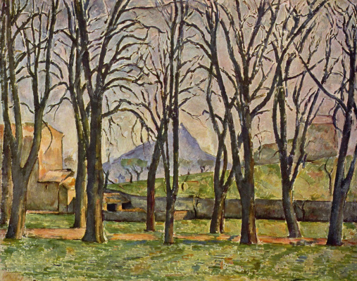 Paul Cezanne. Chestnuts in Ms. de Bouffan