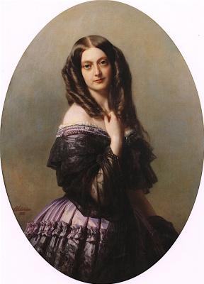 Franz Xaver Winterhalter. Emilia McDonnell, viscountess Aguado, Marquis of Las Marissas