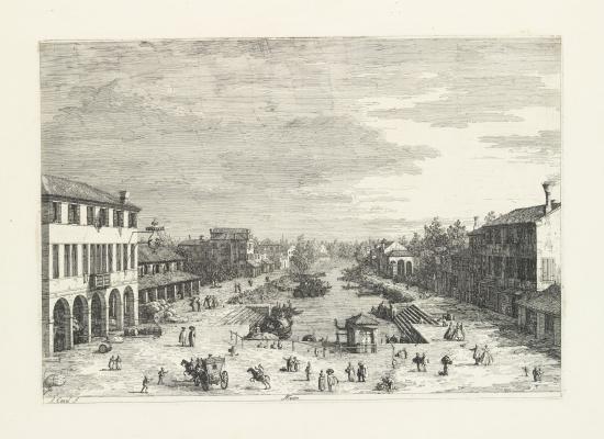Giovanni Antonio Canal (Canaletto). Area of Mestre