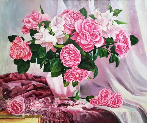 Gennady Vladimirovich Rudenko. Still Life Roses