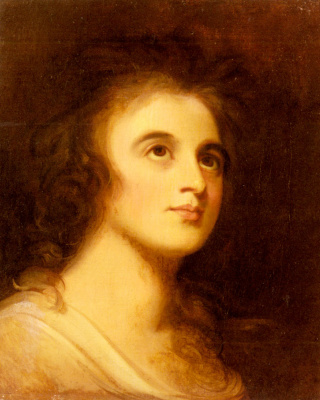 George Romney. Portrait of Emma Hamilton