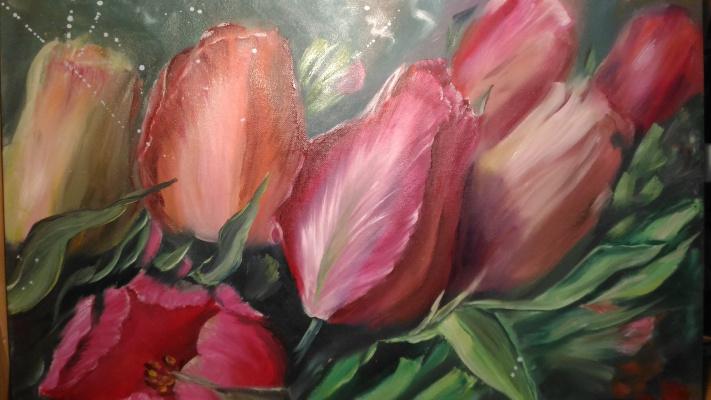 Lilya Fedorova. Spring tulips