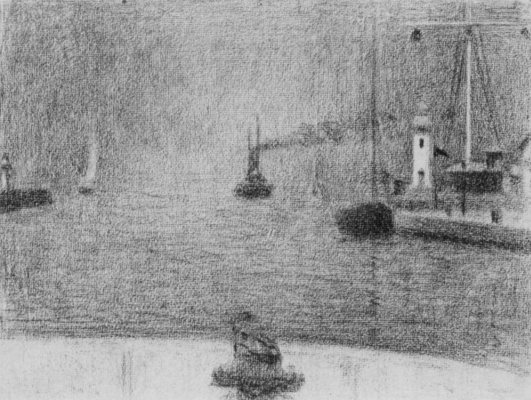 Georges Seurat. The entrance to the harbour Honfleur