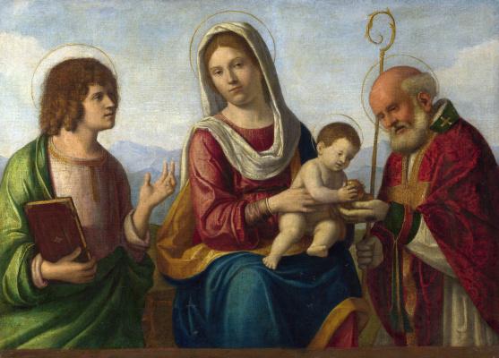 Giovanni Battista Cima da Conegliano. The virgin and child with saints