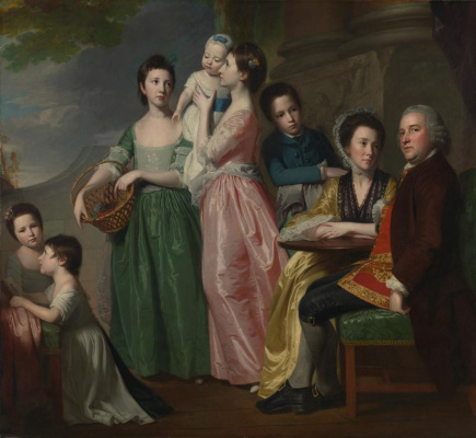 George Romney. Big family. Portrait of Mr. Jarrett Lee Family
