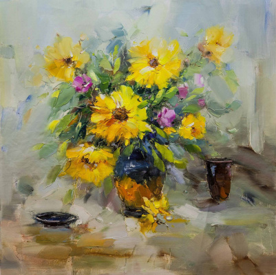 Maria Potapova. Yellow flowers