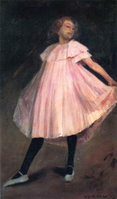 Уильям Джеймс Глакенс. Девочка в розовом платье