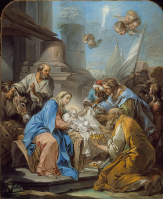 Charles Andre van Loo. The adoration of the Magi