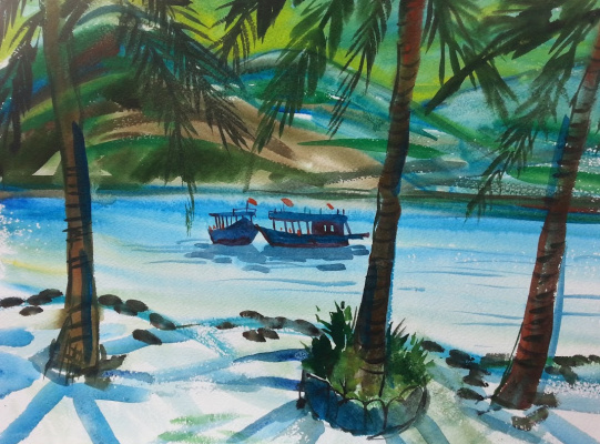 "Natalia Gennadievna Torlopova. Series ""Tropical island""3"