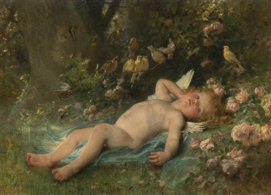 Леон Базиль Перро Франция 1832-1908. Пробуждение Амура.