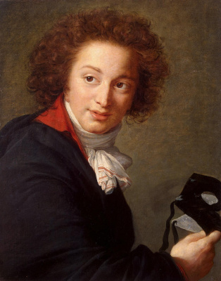 Elizabeth Vigee Le Brun. Portrait of count Grigory Chernyshev with a mask in hand