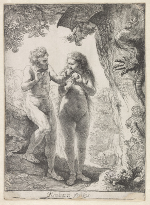 Rembrandt Harmenszoon van Rijn. Adam and eve