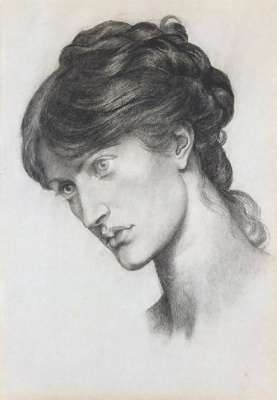 Dante Gabriel Rossetti. Portrait of Mrs. William J. Stillman