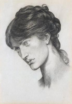 Dante Gabriel Rossetti. Portrait of Mrs. William J. Stillman