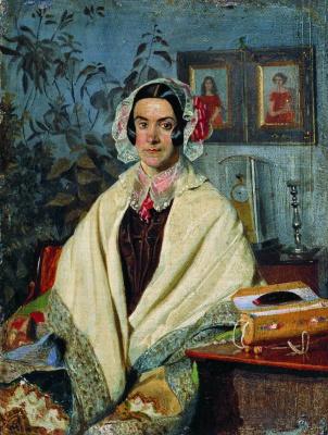 Pavel Andreevich Fedotov. Portrait of Olga Petrovna Zhdanovich, nee Chernysheva