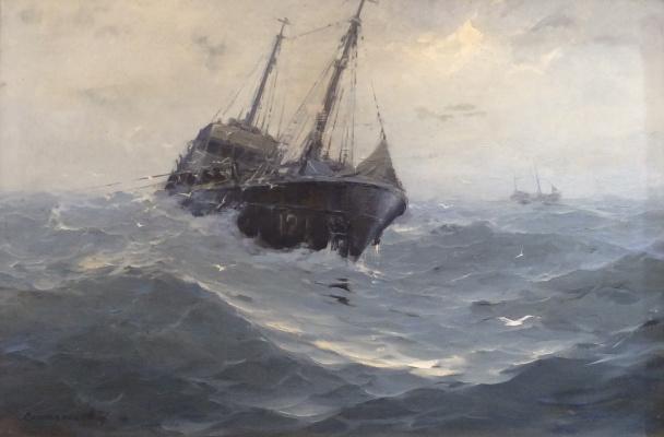 Евгений Николаевич Скитальцев. Балтийское море. На промысле