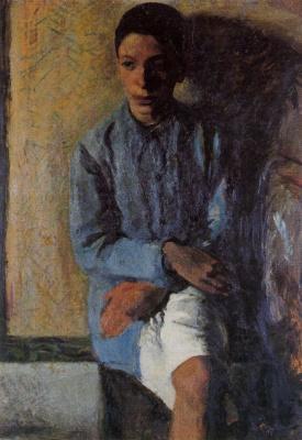 Марио Сирони. Сидящий молодой человек