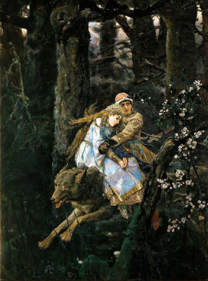 Victor Mikhailovich Vasnetsov. Ivan Tsarevich on the Grey Wolf