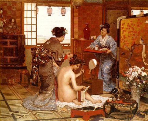 Франсуа Мари Фермин Жирар. Японская туалетная