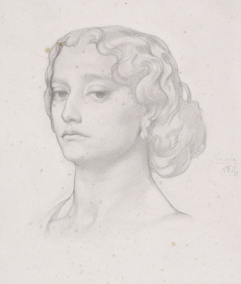 Frederic Leighton. Sketch of a female head
