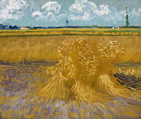 Винсент Ван Гог. Пшеничное поле со снопами